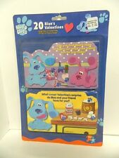 BLUES CLUES  VINTAGE 2000 VALENTINES - PACKAGE OF 20 VALENTINES  - RARE