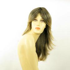 Perruque femme longue Brun méché doré : ZOE 1BT24B