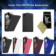 NEW PREMIUM LEATHER FLIP CASE COVER FOR SONY XPERIA M2 D2303