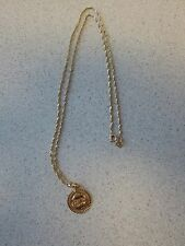 Gold Pendant 18k Chain zodiac Pisces Fish Italy stamp 750 vintage Рыба Зодиак