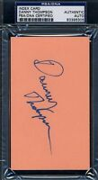 Danny Thompson D.76 Signed Psa/dna Certified 3x5 Index Card Autograph