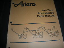 ariens sno thro,snow throwwer accessories manual,,illustrated parts list