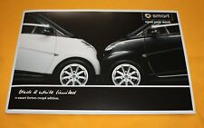 Smart Fortwo Coupe Black & White 2010 Prospekt Brochure Catalog Prospetto