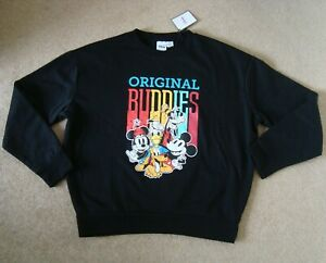Women's DISNEY Sweatshirt Size S 10-12 UK BNWT Top Jumper Original Buddies
