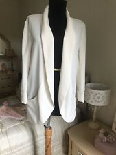 New Look Ivory Casual Blazer Jacket Size UK 10 Lightweight Summer