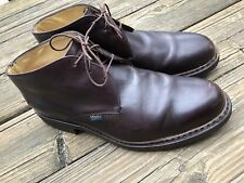 Men's Paraboot Cousu Norvegien Brown Leather Shoes Size U.K. 9.5 US 10 France