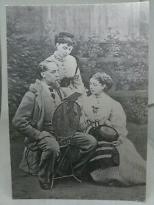 Vintage Repro Postcard Charles Dickens with His Daughters