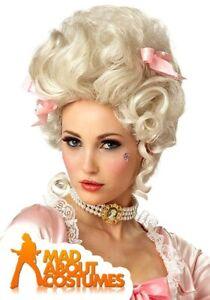 Deluxe Marie Antoinette Blonde Wig Baroque Historical Fancy Dress Accessory