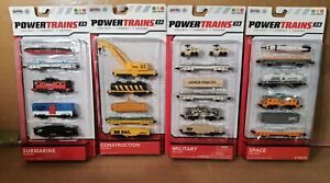 Jakks Power Trains 2.0 Construction Military Submarine Space Car Packs Lot of 4
