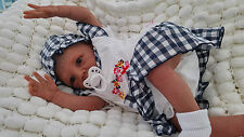 SUNBEAMBABIES PAINTED HAIR ETHNIC KYRA AA REBORN DOLL SOFT SILICONE VINYL  BABY
