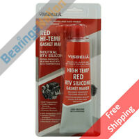 Visbella RTV Silicone Gasket Maker Red 3 oz. High Temp 650°F Sealant