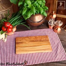 Olive Wood Breakfast Board Chopping Cutting 9 13/16in