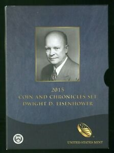 2015 Coin and Chronicles  Set Dwight D. Eisenhower 1.00 troy oz Silver Medal 651