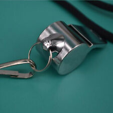 Stainless Steel Sport Game Referee Whistle Emergency Loud Sound Outdoor