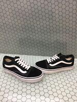 VANS Old Skool Black Canvas/Suede Lace Up Skate Shoes Men's Size 5  Women's 6.5