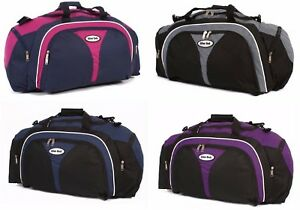 Large Weekend Overnight Bags Ladies Mens Sports Holdall Travel Hand Luggage Bag
