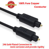 3/6/12ft Digital Fiber Optical Optic Audio SPDIF MD DVD TosLink Cable Lead Cord
