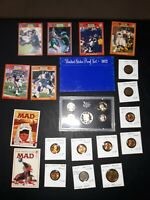 coin LOT collection proof set Lincoln Buffalo wheat BU football + NO JUNK DRAWER