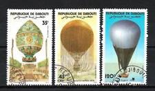 Ballons et Dirigeables Djibouti (14) série complète de 3 timbres oblitérés