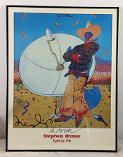 Stephen Rosser SATELLITE COWBOY Poster Framed Artist Signed