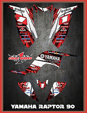 Yamaha Raptor 90 SEMI CUSTOM GRAPHICS FREE CUSTOMIZATION KIT TOON2