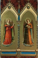 Postcard Made in Italy 1921, Christianity, Angels, Due Angioli #B41q