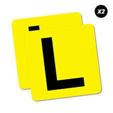 2X Learner L Plate Sticker Aussie Car Flag 4x4 Funny Ute #5967EN