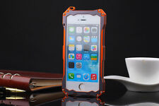 Gorilla Glass Metal Cover Case iPhone 6S Plus 4 4S 5 5S 5C Waterproof Shockproof