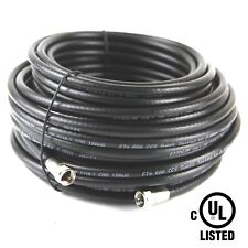 100 FT RG-6 Satellite UL CMG TV Coaxial Cable RG6 3.0 Ghz with F connectors