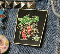 Vintage Poison NOS enamel pin retro 80s tongue hair band hard rock hat lapel bag