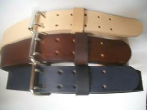 """2"""" WIDE HEAVY DUTY HAND MADE LEATHER WORK GUN TOOLS HOLSTER 2 PRONG BELT"""