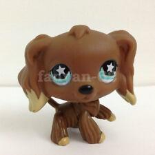 Littlest Pet Shop Dog Chocolate Brown Cocker Spaniel #960 Star Eyes LPS toys
