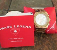 Men's Swiss Legend Rose Gold Tone Swiss Chronograph Watch