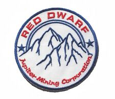 """Red Dwarf JUPITER MINING CORP embroidered badge Patch 8.5x8.5cm 3.5"""""""