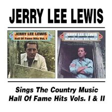 JERRY LEE LEWIS - SINGS THE COUNTRY MUSIC HALL OF FAME VOLS 1 & 2  CD NEUF