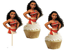 MOANA cupcake toppers/cakepop toppers