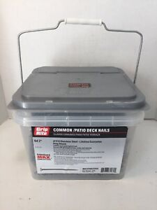 "Grip Rite Patio Deck Nails #316 Stainless Ring Shank 6d 2"" MAXN62284 25lbs"