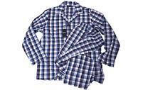 Hugo Boss Pyjama Urban M blau/grau/rot Baumwolle langarm in Geschenkebox