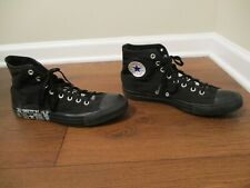Used Sz 10.5 Fit Like 11-11.5 Converse Chuck Taylor All Star Hi Shoes Black