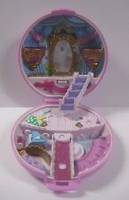 Vintage 1993 POLLY POCKET Bluebird BALLERINA Compact Purple Round Flower Playset
