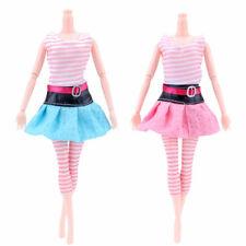 1 Set Handmade Fashion Clothes Dress For Barbie Doll Gift Color Random SP