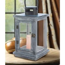 Lot of 6 Large Rustic Wood Lantern Candle Holder Wedding Centerpiece