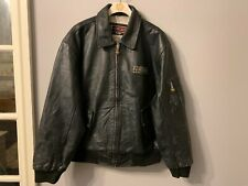 VINTAGE NICKELSON DISTRESSED LEATHER MOTORCYCLE JACKET SIZE XL