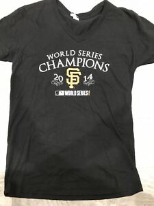 San FransiscoGiants MLB 2014 World Series Champions Womens Black Tshirt size med