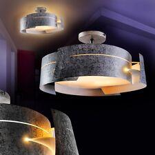 Plafonnier Design Moderne Lustre Lampe à suspension argentée Luminaire 133943