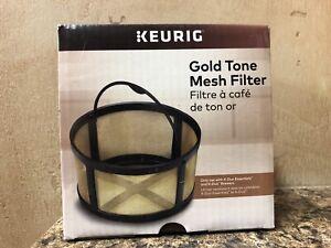 Keurig Reusable Mesh Ground Coffee Filter, Gold Tone Mesh