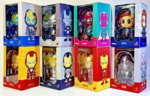 HOT TOYS COSBABY IronMan War Machine Ultron Black Widow Avengers AoU Lot of 8