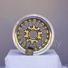 "4 ROTA WHEEL KENSEI 15x8 4X100 0 ROYAL GOLD MIATA XA XB VW MR2 3.5"" LIP LAST SET"