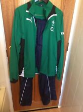 IRELAND RUGBY SHIRT VINTAGE PLAYER ISSUED TRACK TOP & WET BOTTOMS ULSTER IRFU