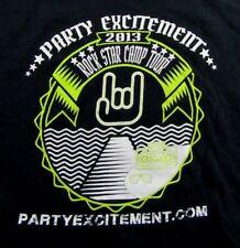 PARTY EXCITEMENT 2013 Rock Star Camp Tour Souvenir SS T Shirt Size L